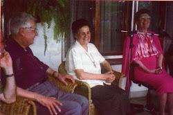 Ginetta com Ana Maria e Danilo Zanzucchi