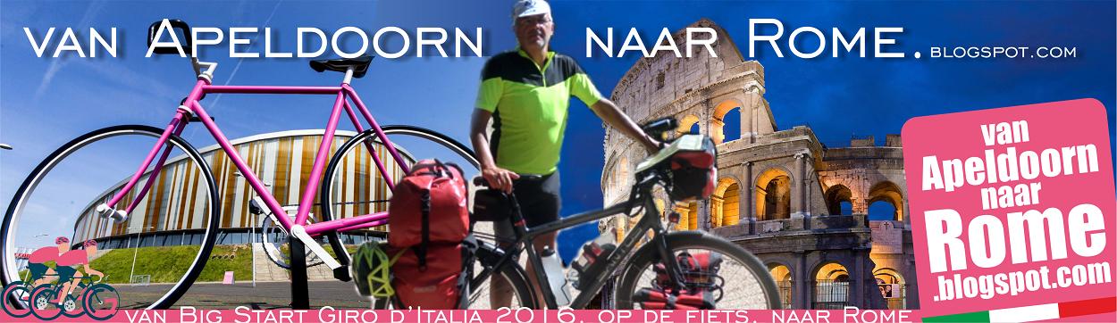 van Apeldoorn naar Rome op de fiets
