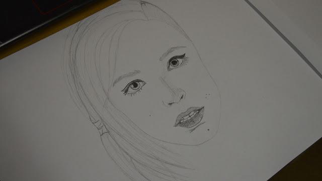 Drawing fan art of Johanna from Hots - part 2