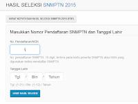 Info Pengumuman Hasil SNMPTN 2015