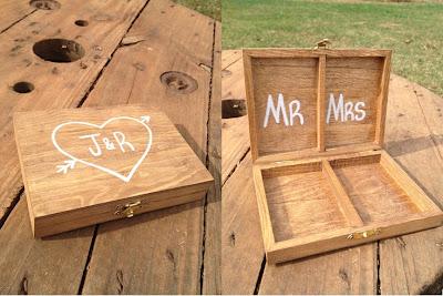 porta anillos caja madera