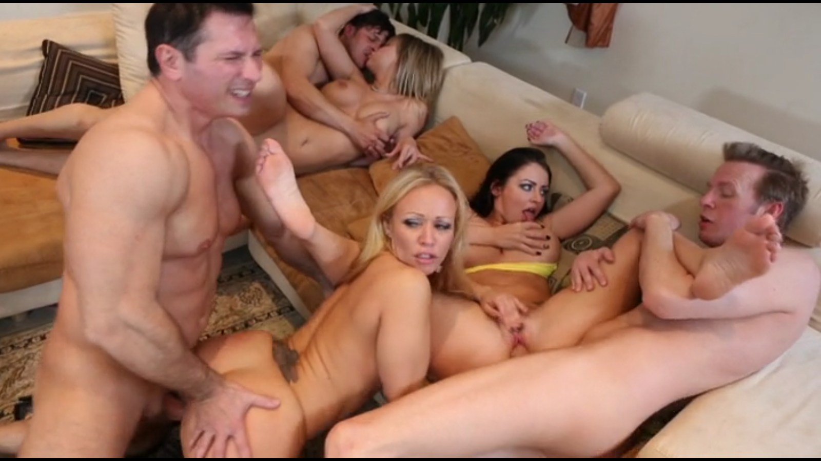 Big boob milf orgy