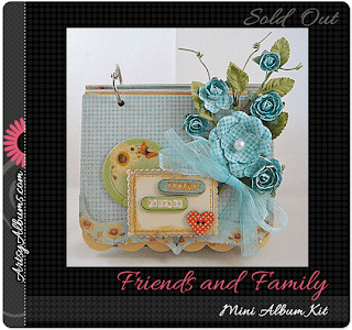 friends and family mini album scrapbook