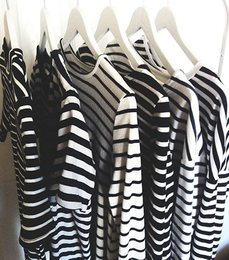 Striped t-shirts, cotton knit, Breton stripes