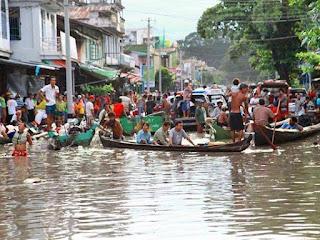 flooding in myanmar burma