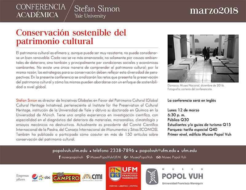 CONSERVACIÓN SOSTENIBLE DEL PATRIMONIO CULTURAL