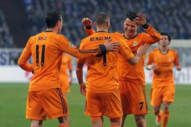 Real Madrid plays Trio BBC against Bayern Munich