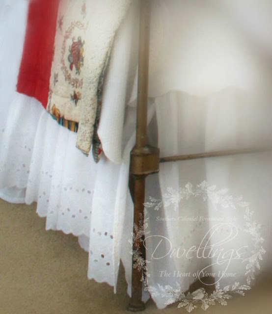 Layered bed skirts; ruffled and eyelette