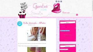 garotas com esmalte personalização do layout template gce por sweet template