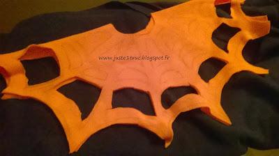 juste 1 truc halloween déguisement sans couture polaire fabriquer DIY