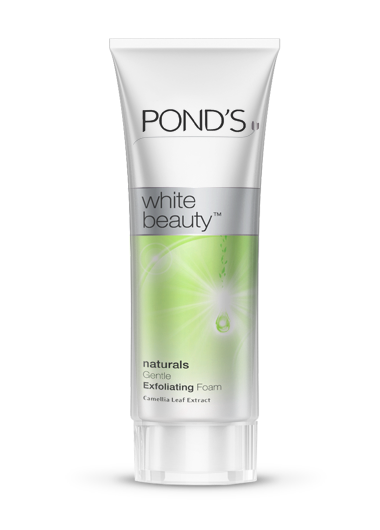Ponds white beauty facial foam natural white 100