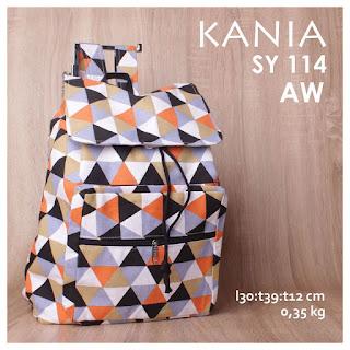 jual online tas ransel kanvas murah terbaru kania motif cantik unik lucu  - SY 114