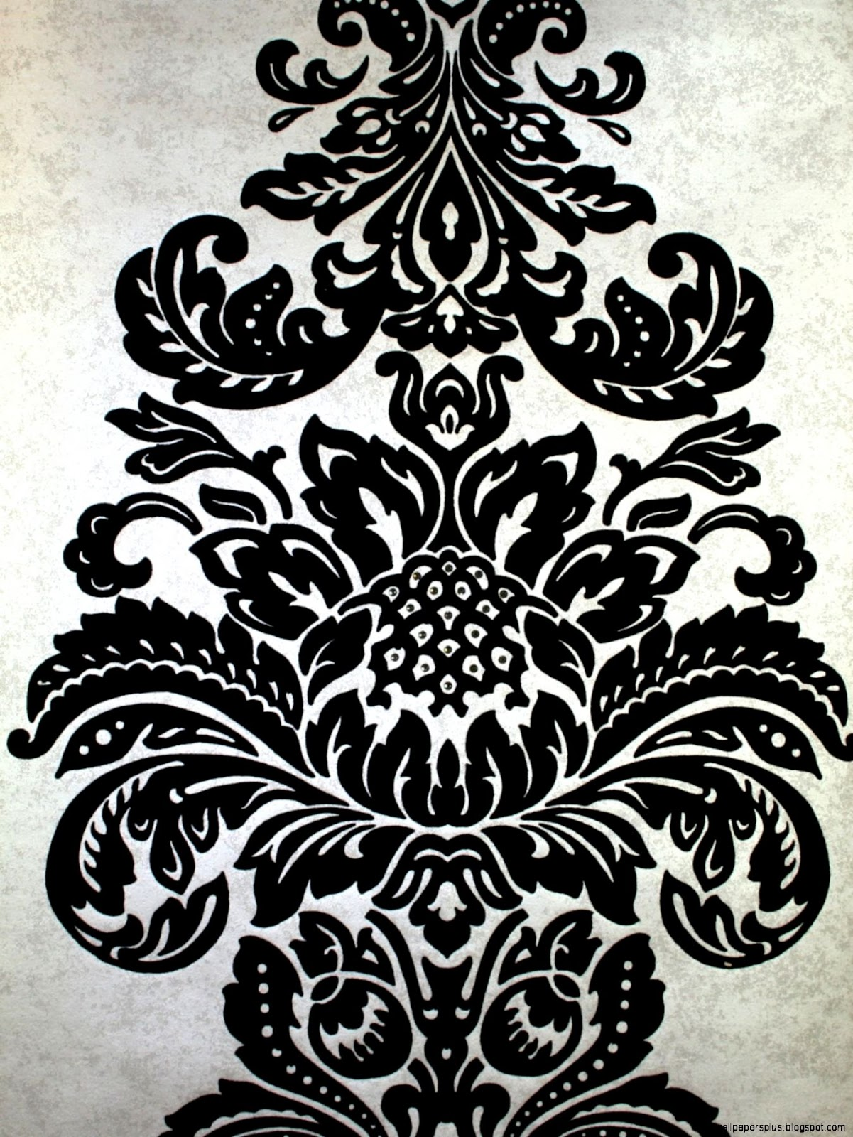 black damask wallpaper on - photo #45