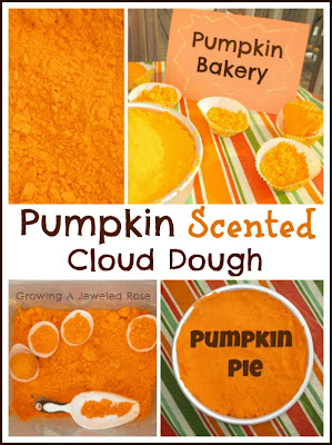 Pumpkin scented cloud dough