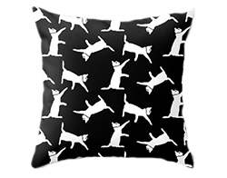Black and white cats pillow cover (PrtSkin, $28+)