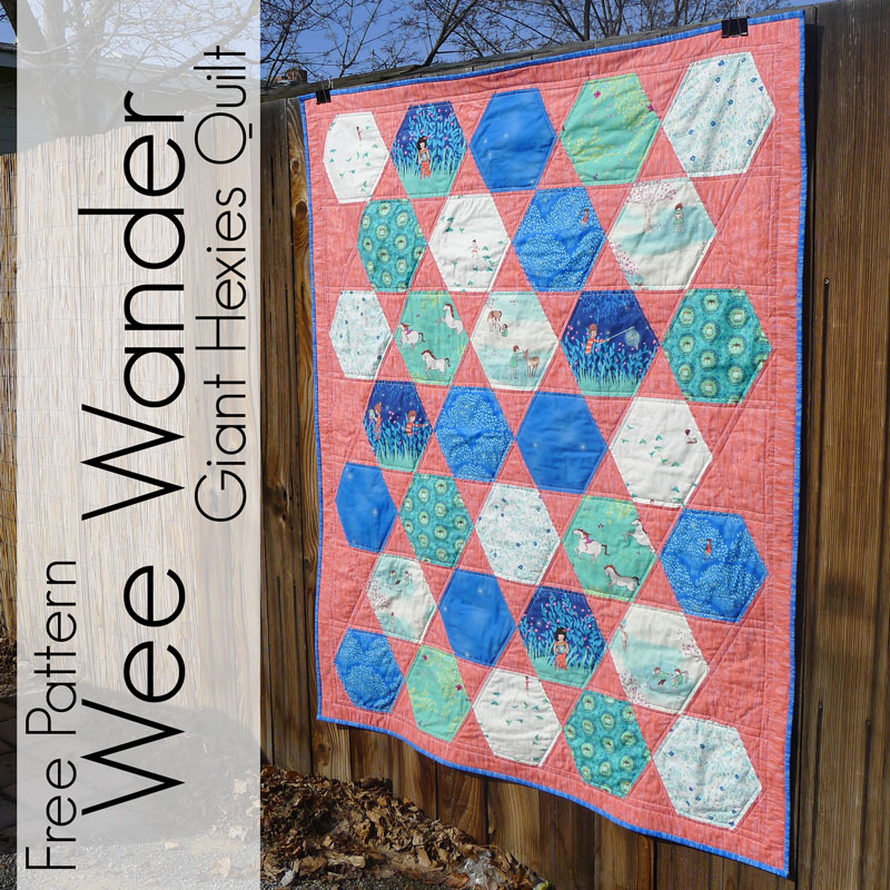 http://www.piecesbypolly.com/2014/04/giant-hexies-quilt-with-wee-wander.html