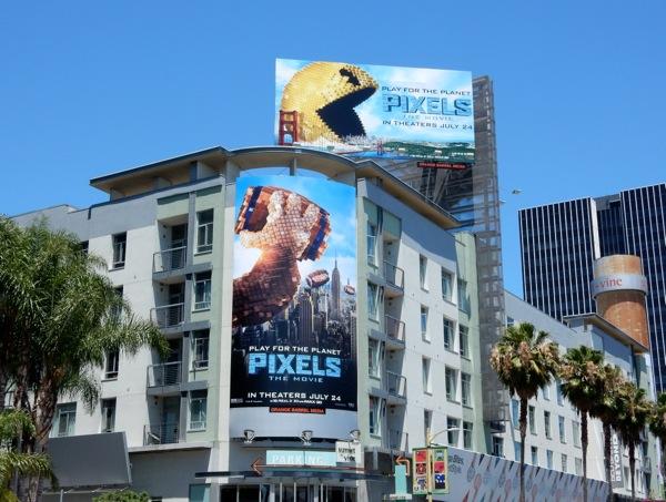 Pixels The Movie billboards