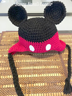 Free Minnie Mouse Crochet Hat Pattern With Ear Flaps : DIY Disney Inspired Crochet Mickey Mouse Ears Hat - FREE ...