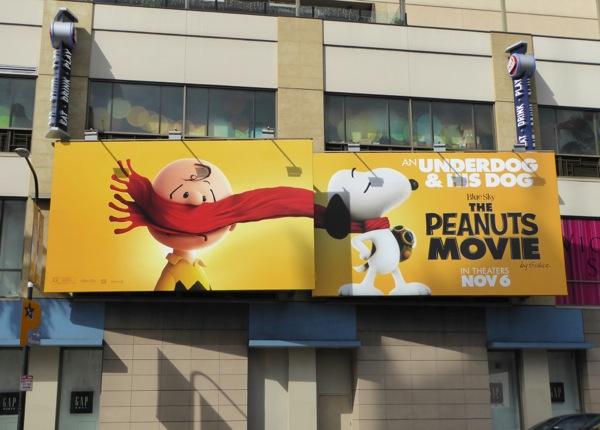 Peanuts Movie billboard