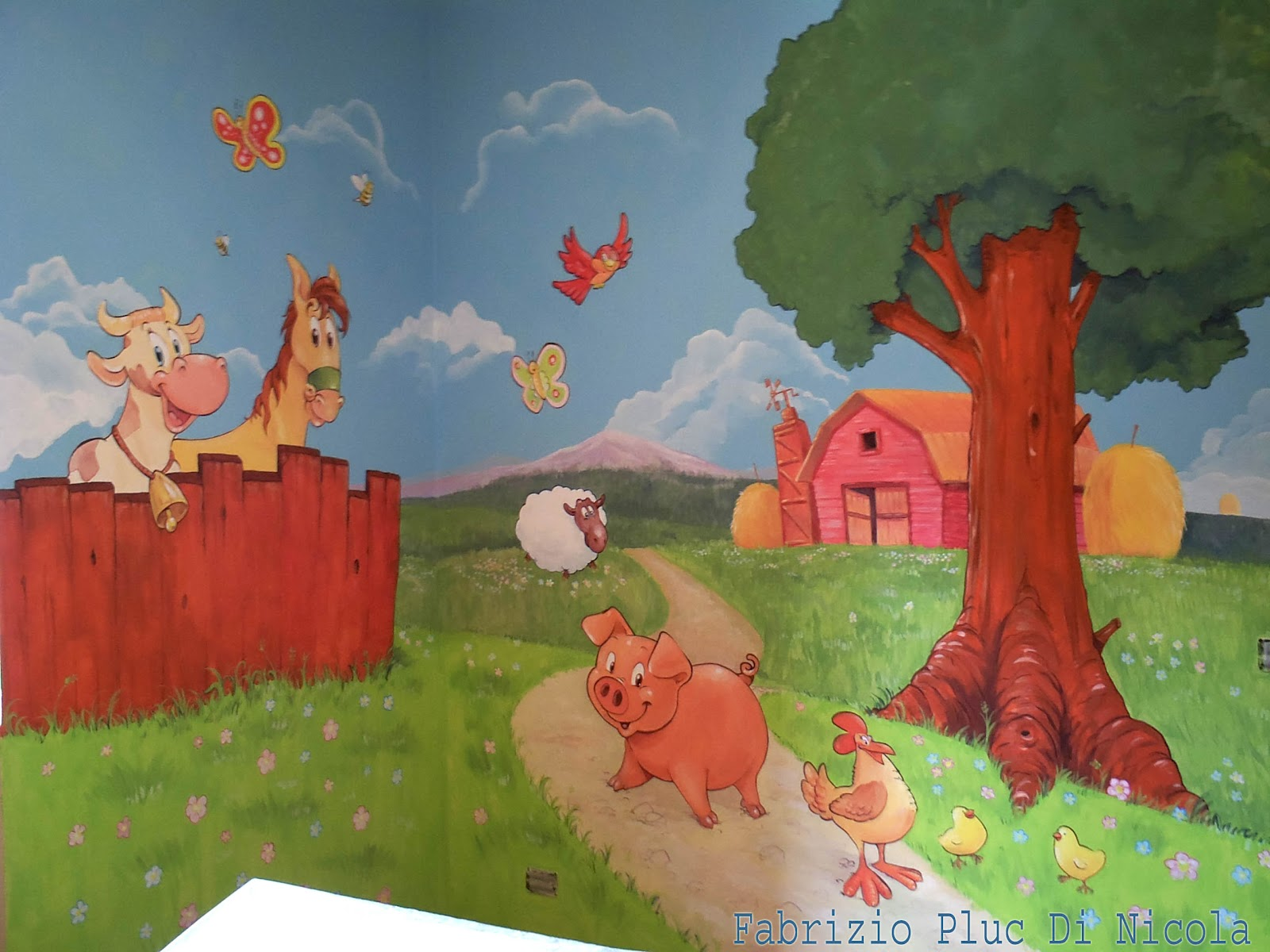 Murales Cameretta Bambini : Pluccomix murales cameretta bambini