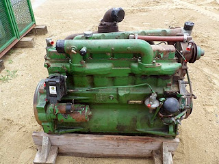 used tractor engine
