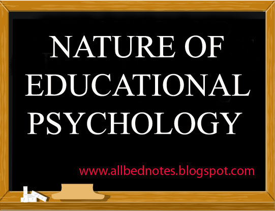 nature of educational psychology pdf
