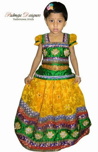 Brasso Floral Work Yellow Lehenga