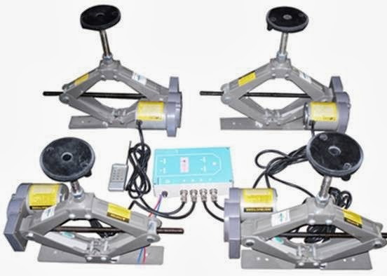 Electric scissor lift tables worm gear scissor lift for Air powered gear motor