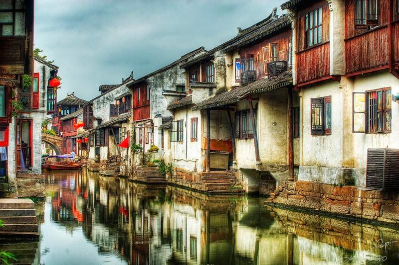 Zhouzhuang water town of China