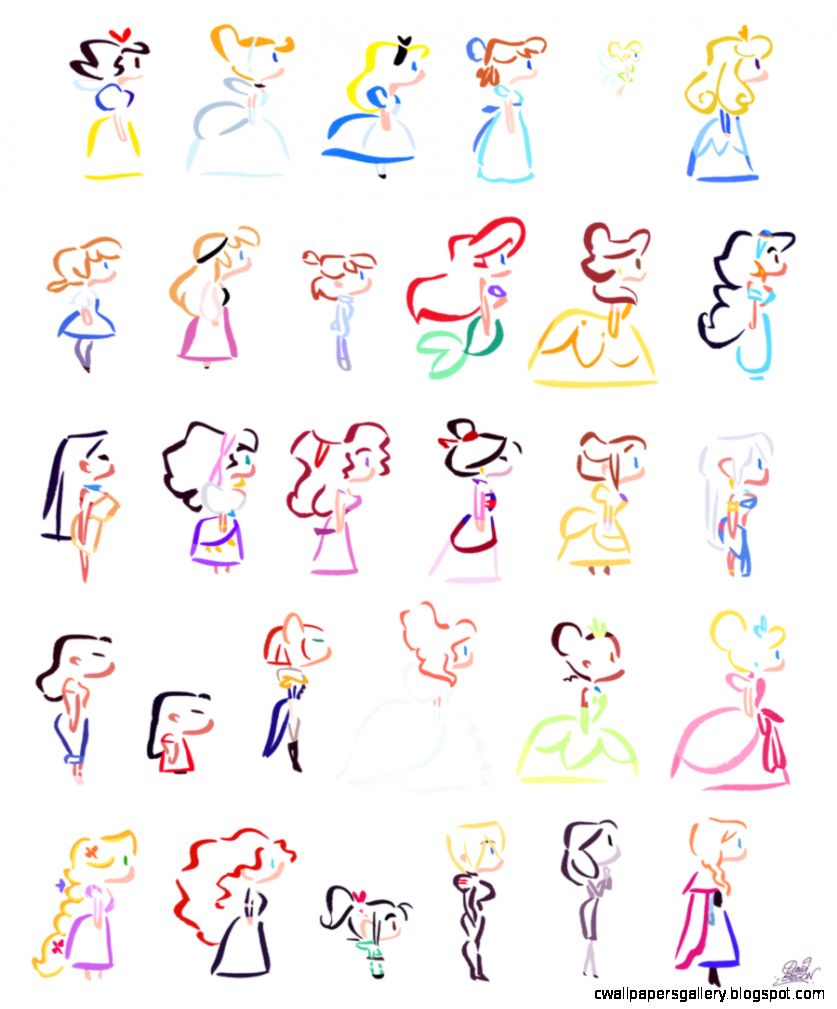 Disney Characters Drawings Step By Step | Wallpapers Gallery