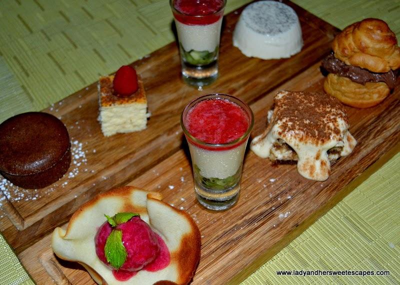 desserts at Serafina in Souk Al Bahar Dubai