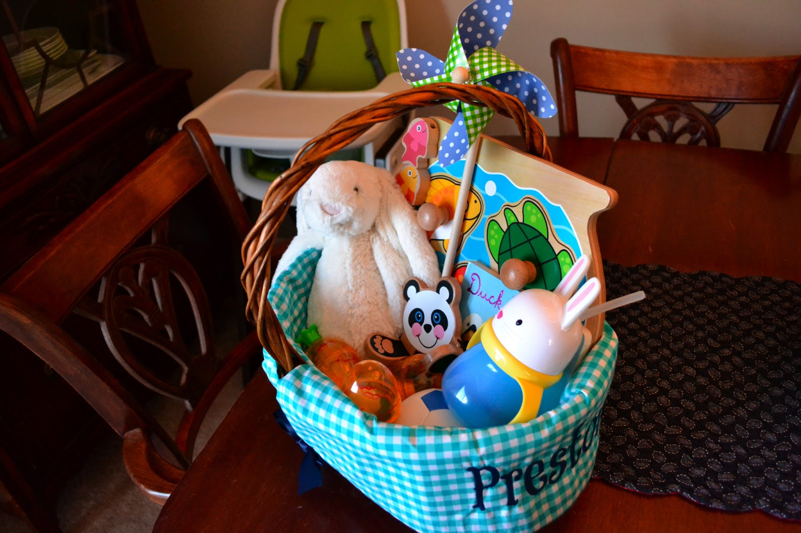 My life in pink and green easter basket for infants easter basket for infants negle Gallery