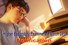 Higher Secondary Examination March 2013 Notification