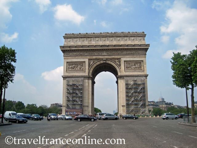 champs elys es arc de triomphe on place etoile charles de gaulle online travel france. Black Bedroom Furniture Sets. Home Design Ideas
