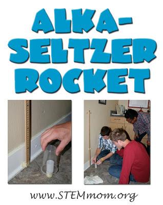 Alka-seltzer Rocket Design Challenge from STEM mom.org