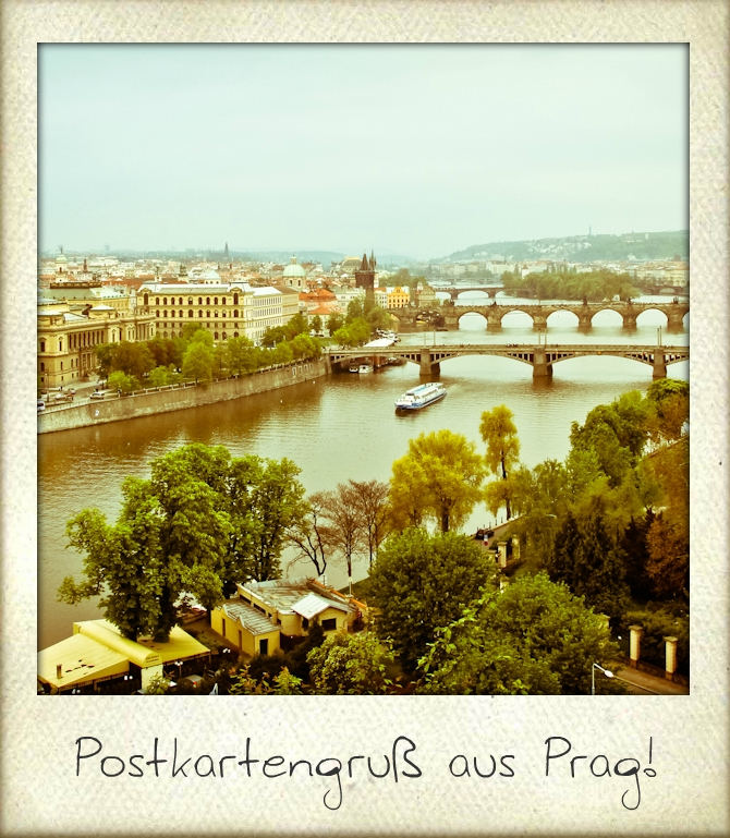 Postkartengruß Prag