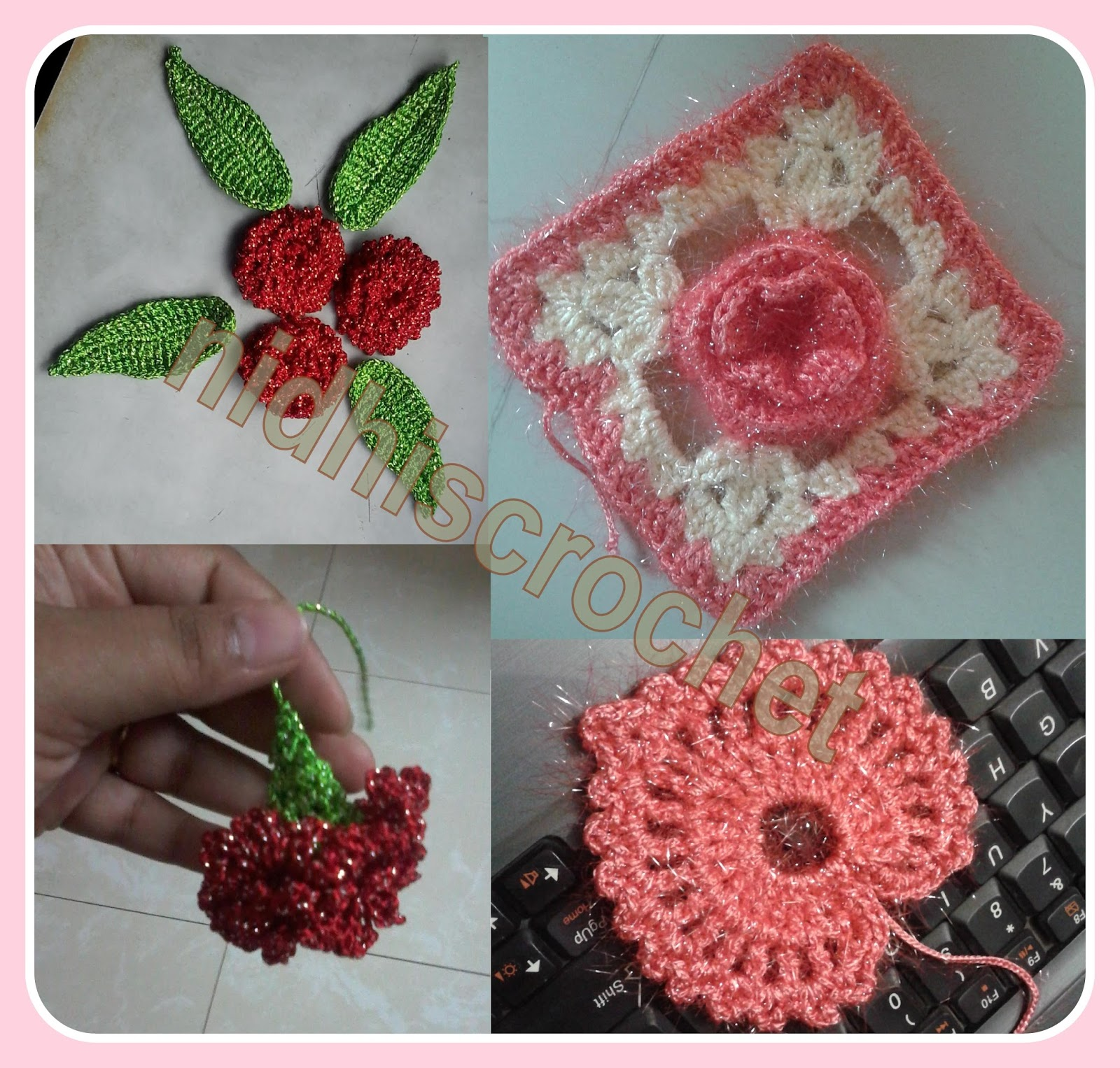 Nidhis crochet beautiful attractive crochet flowers leaves izmirmasajfo Image collections