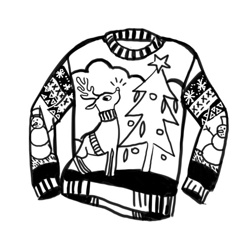 Christmas sweater drawing by Anastasia | We Heart It