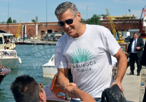 George Clooney arrives in Venice 24414878