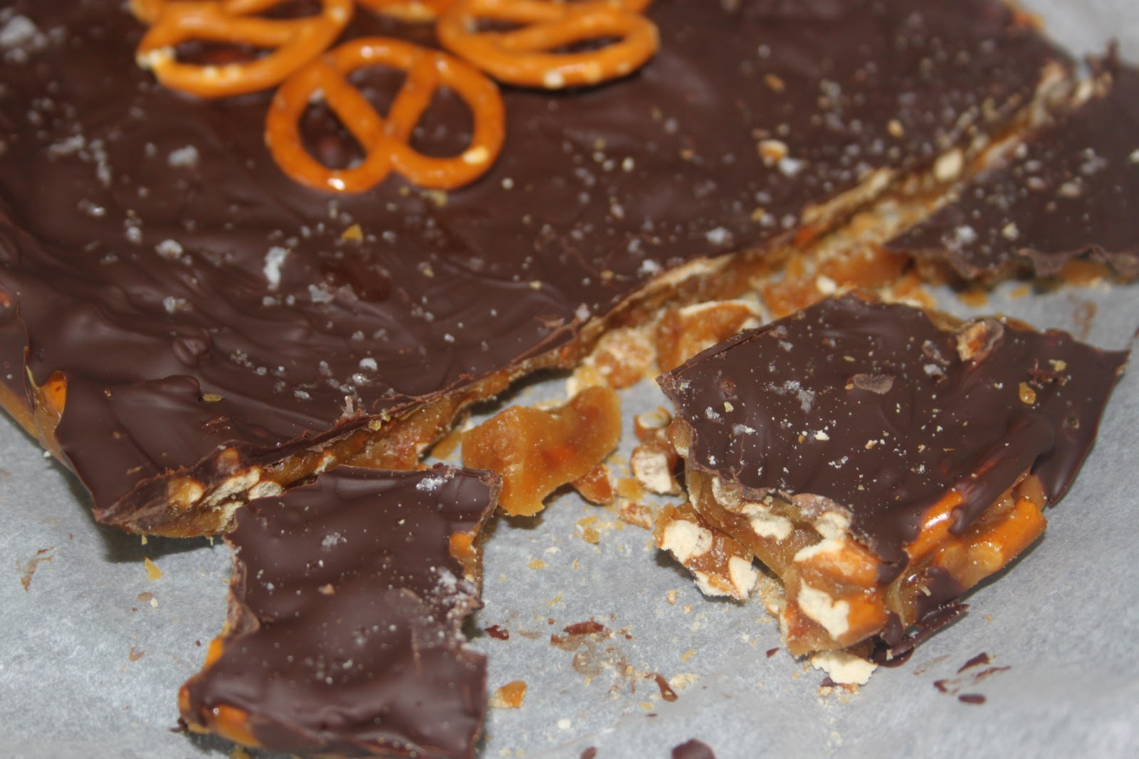 Corner Cottage Bakery: Chocolate Covered Pretzel Toffee