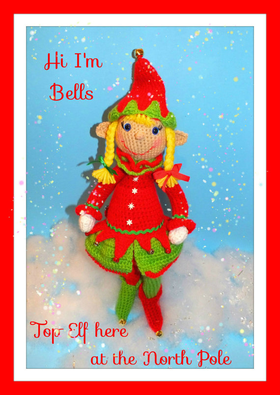 Bells the Christmas Elf Pattern© By Connie Hughes Designs©