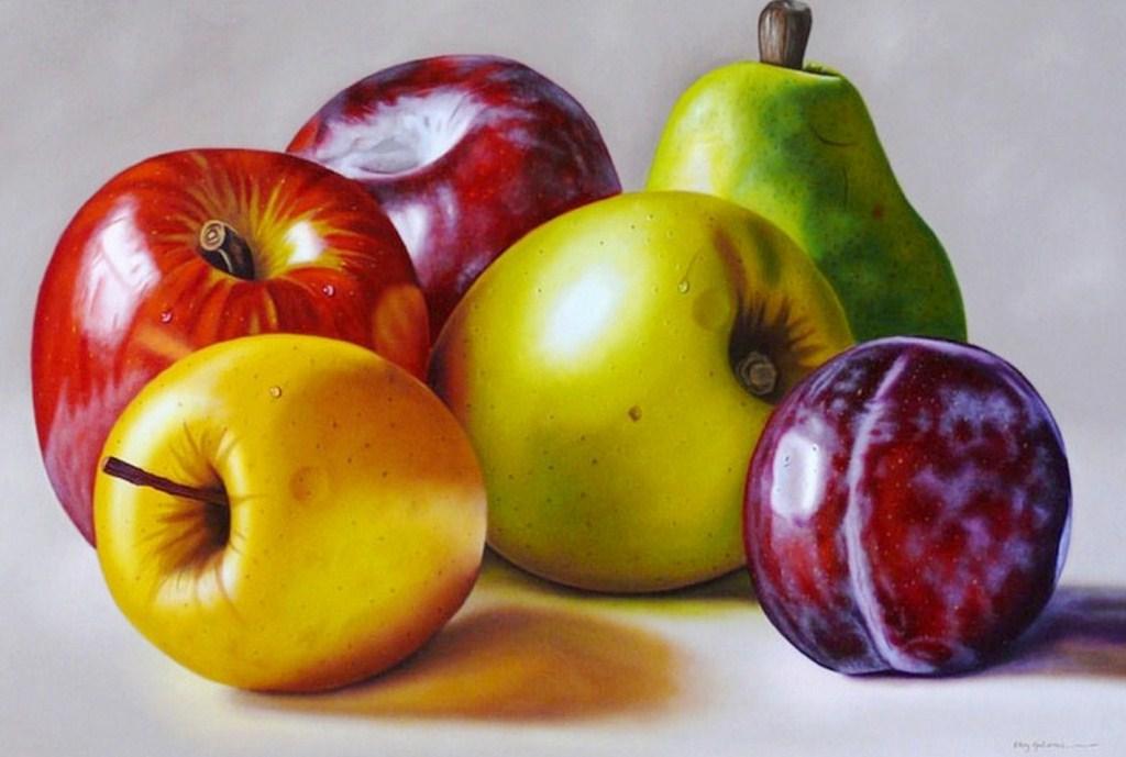 Im genes arte pinturas pinturas de frutas for Comedor de frutas para bebe