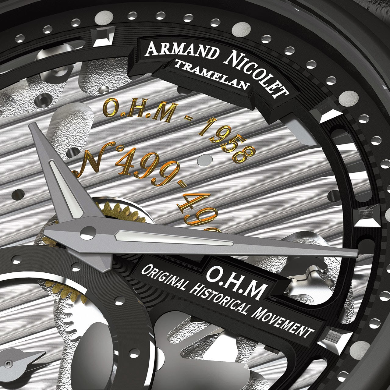Armand Nicolet L14 Watch detail