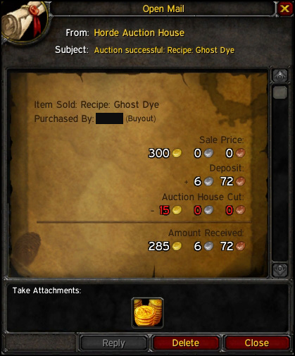 gold guide ghost dye alchemy