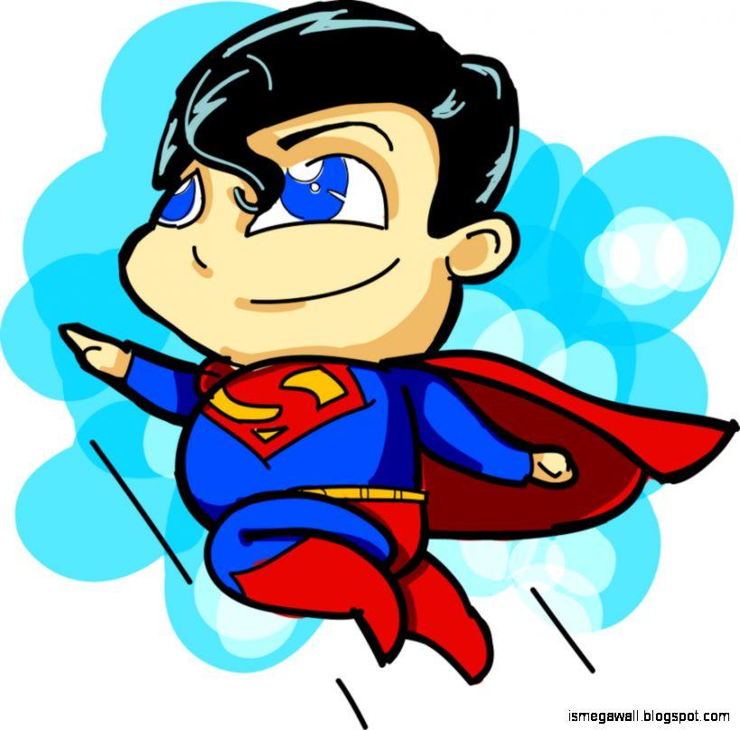 Superman Background Cute Superman Chibi | Mega Wallpapers
