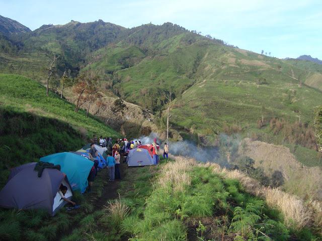 Campsite at Sembalun Lawang