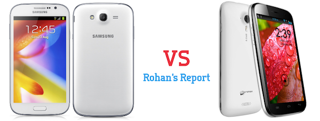 Samsung Galaxy Grand vs Micromax A116 Canvas HD