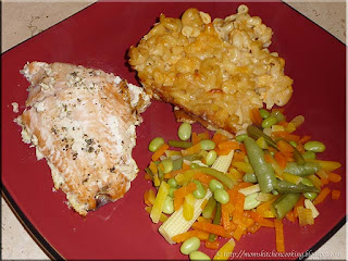 baked salmon with seven cheese mac and cheese