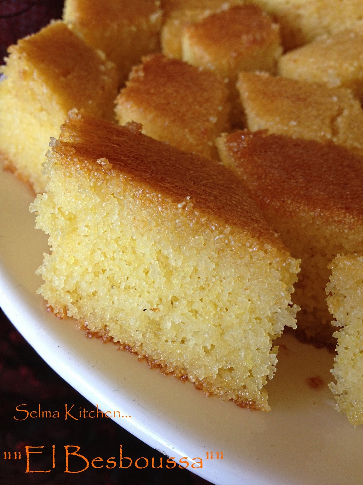 selma kitchen recette de besboussa el besboussa recette de patisserie orientale facile au miel. Black Bedroom Furniture Sets. Home Design Ideas