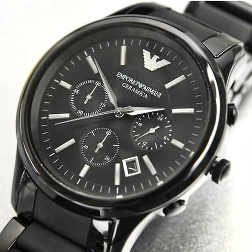 Armani season new tour summer emporio armani armani ar1452 mens chronograph black ceramica watch for Ceramica chronograph